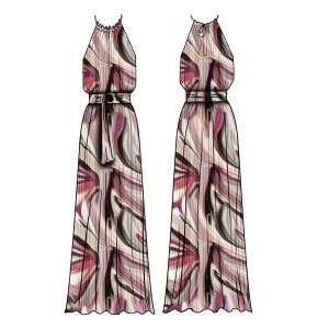 CABANA WAVE LONG DRESS logo