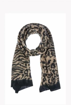 Leo jaquard knit scarf