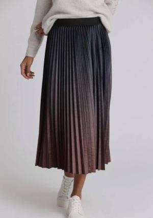 Velvet plissee skirt logo