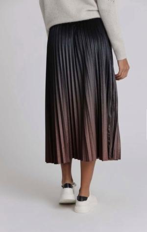 Velvet plissee skirt