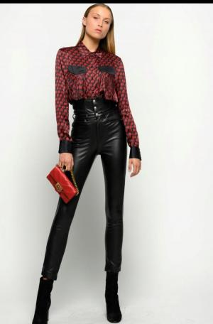 ARISTIDE CAMICIA-BLACK-RED zwart/rood
