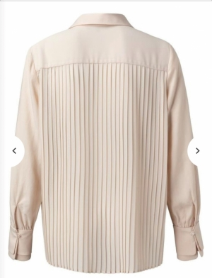 Woven top with pleated back Pale pink