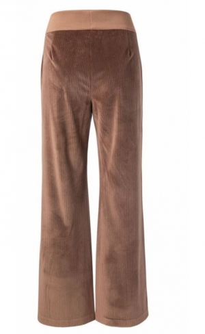 Ridded wide leg Cacao brown