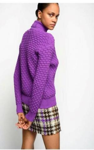 Orario Cappotto Brown/Purple