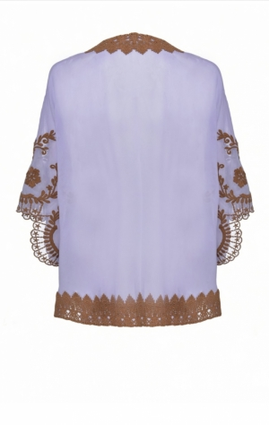 Fantastico poncho Lilac-Burnt