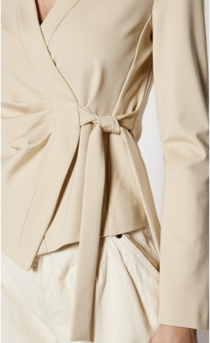 Erudito giacca punto stoffa Beige/quicksand