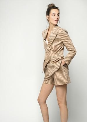 Affabile giacca punto Beige-Brown